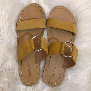 Topshop yellow suede sandals